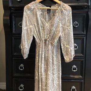 Ella Moss silk sheer dress
